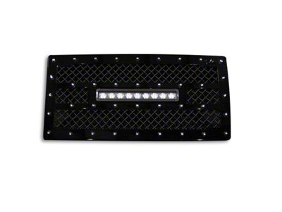 Royalty Core RC1X Incredible Grille w/ 12 in. LED Light Bar - Black (07-18 Jeep Wrangler JK)