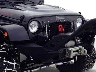 Royalty Core RCX Explosive Grille w/ Dual 9 in. LED Light Bars - Black (07-18 Jeep Wrangler JK)