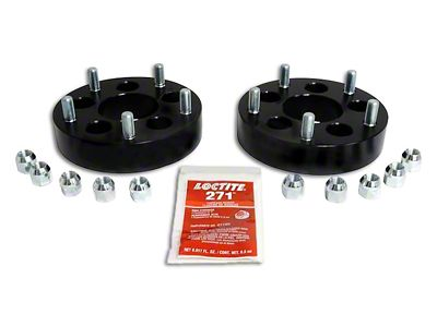 RT Off-Road 1.5 in. Black Wheel Adapters - 5x4.5 to 5x5.5 (87-06 Jeep Wrangler YJ & TJ)