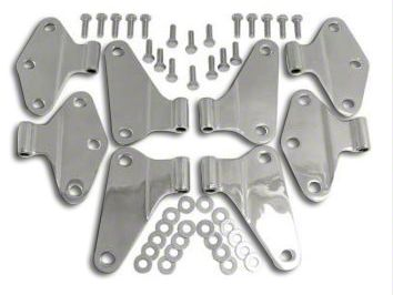 RT Off-Road Body Door Hinge Set - Stainless (07-18 Jeep Wrangler JK 4 Door)