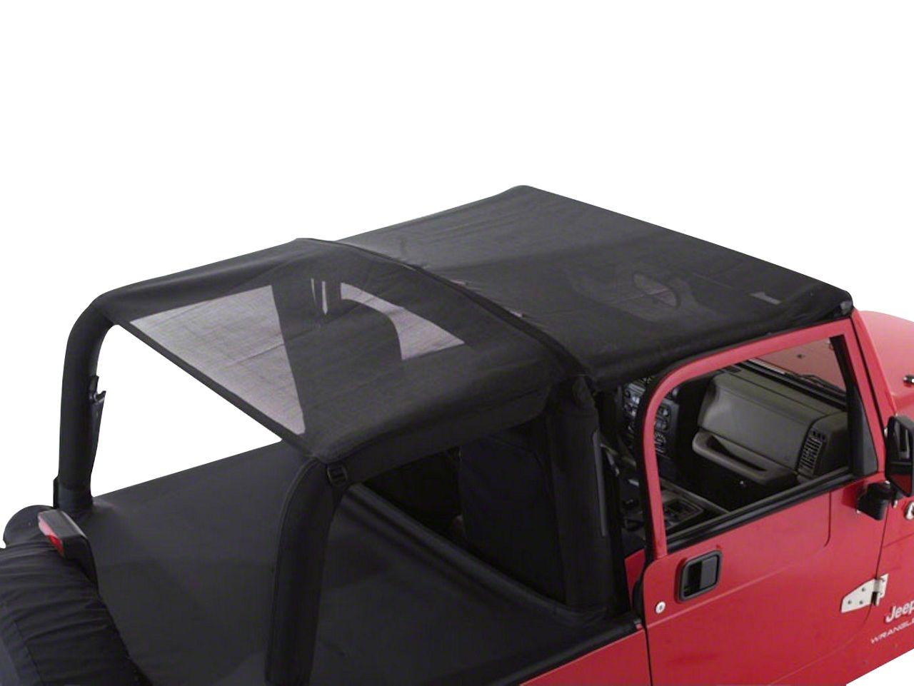 RT Off-Road Combo Beach Topper - Black Mesh (92-95 Jeep Wrangler YJ)