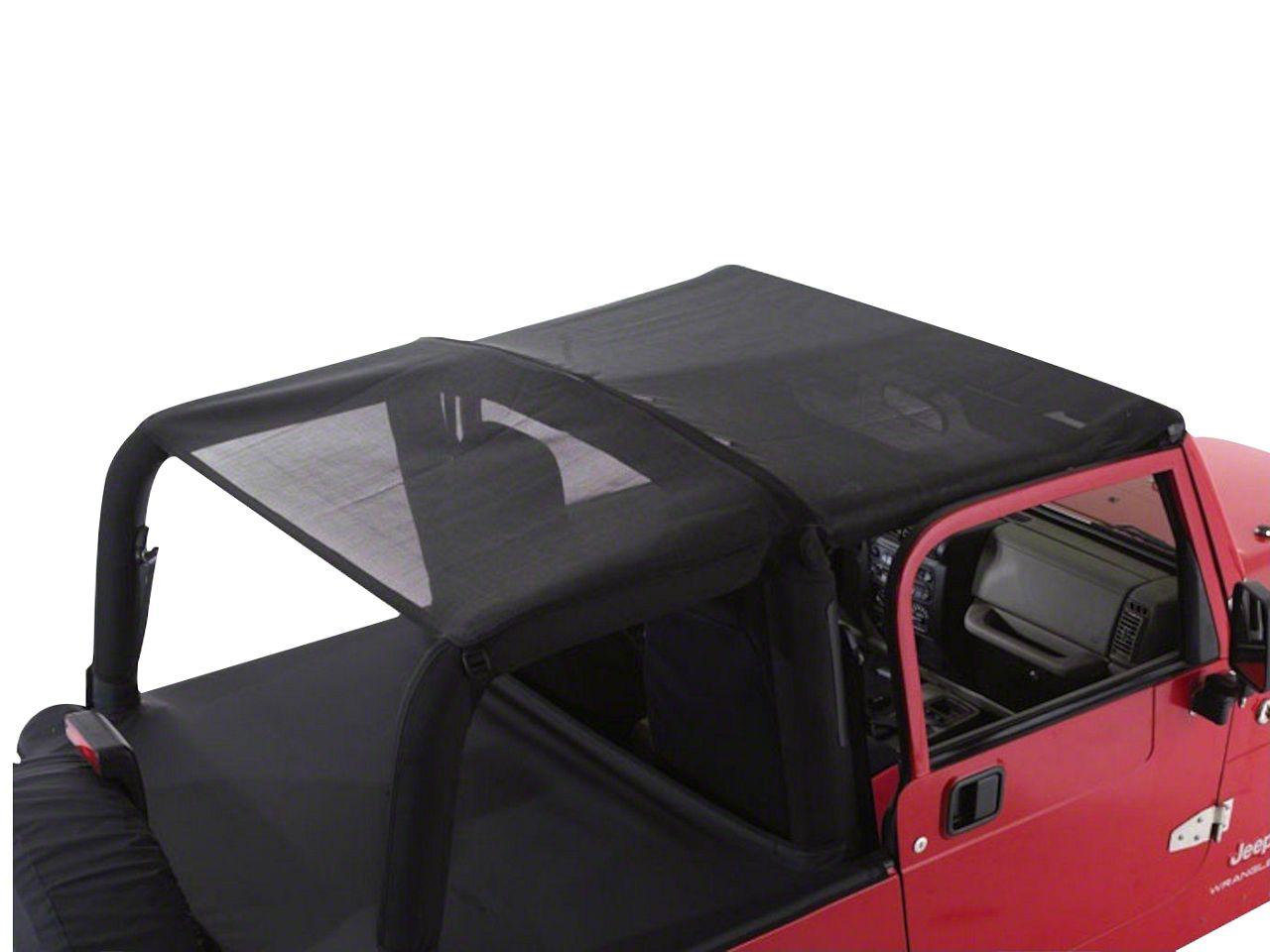 RT Off-Road Combo Beach Topper - Black Mesh (07-18 Jeep Wrangler JK 4 Door)