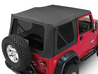 RT Off-Road Complete Soft Top - Black Diamond (97-06 Jeep Wrangler TJ w/ Full Steel Doors, Excluding Unlimited)