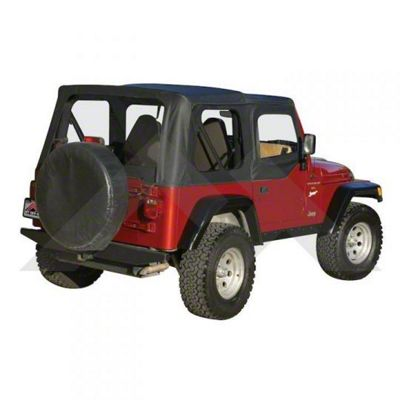 RT Off-Road Complete Soft Top - Black Diamond (97-06 Jeep Wrangler TJ w/ Half Steel Doors, Excluding Unlimited)