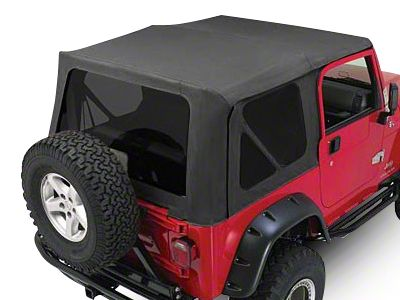 RT Off-Road Complete Soft Top w/ Tinted Windows - Black Diamond (97-06 Jeep Wrangler TJ w/ Half Steel Doors, Excluding Unlimited)
