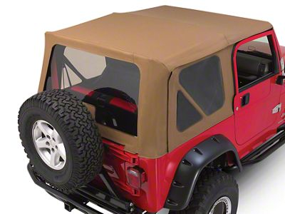 RT Off-Road Complete Soft Top w/ Tinted Windows - Khaki Diamond (97-06 Jeep Wrangler TJ w/ Full Steel Doors, Excluding Unlimited)