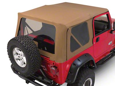 RT Off-Road Complete Soft Top - Khaki Diamond (97-06 Jeep Wrangler TJ w/ Full Steel Doors, Excluding Unlimited)
