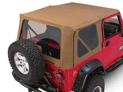 RT Off-Road Complete Soft Top - Khaki Diamond (97-06 Jeep Wrangler TJ w/ Half Steel Doors, Excluding Unlimited)