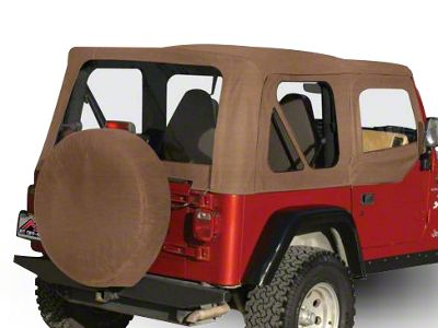 RT Off-Road Complete Soft Top - Spice Denim (97-06 Jeep Wrangler TJ w/ Half Steel Doors, Excluding Unlimited)