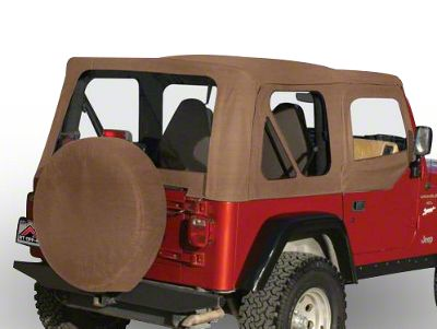 RT Off-Road Complete Soft Top w/ Tinted Windows - Spice Denim (97-06 Jeep Wrangler TJ w/ Half Steel Doors, Excluding Unlimited)