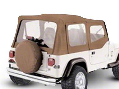 RT Off-Road Complete Soft Top w/ Clear Windows - Spice Denim (87-95 Jeep Wrangler YJ w/ Half Steel Doors)