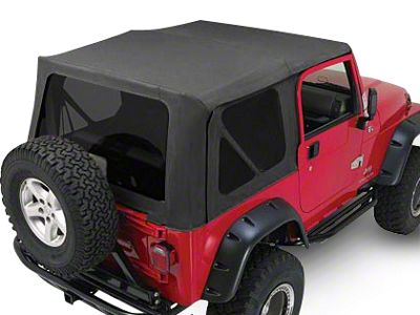 RT Off-Road Complete Soft Top w/ Tinted Windows - Black Diamond (87-95 Jeep Wrangler YJ w/ Full Steel Doors)
