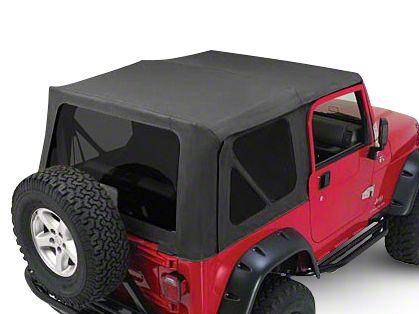 RT Off-Road Complete Soft Top w/ Tinted Windows - Black Diamond (87-95 Jeep Wrangler YJ w/ Half Steel Doors)