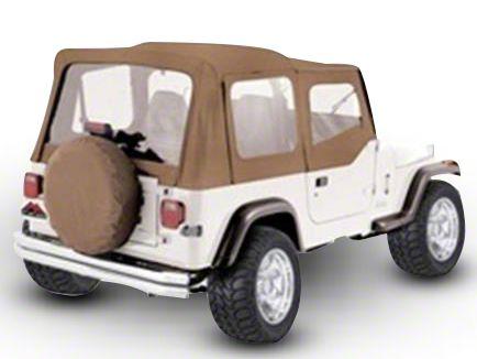 RT Off-Road Complete Soft Top w/ Tinted Windows - Spice Denim (87-95 Jeep Wrangler YJ w/ Half Steel Doors)