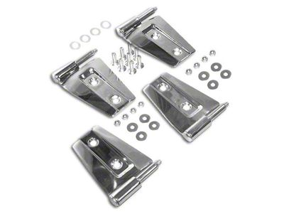 RT Off-Road Door Hinge Set - Stainless (07-18 Jeep Wrangler JK 2 Door)