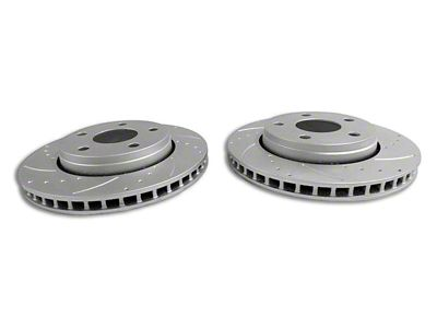 RT Off-Road Drilled & Slotted Brake Rotors - Front Pair (07-18 Jeep Wrangler JK)