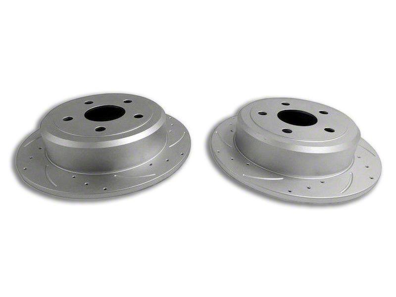 RT Off-Road Drilled & Slotted Brake Rotors - Rear Pair (07-18 Jeep Wrangler JK)