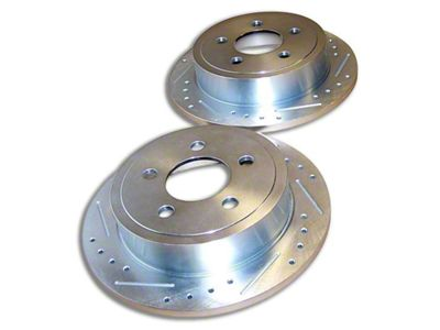 RT Off-Road Drilled & Slotted Brake Rotors - Rear Pair (03-06 Jeep Wrangler TJ w/ Rear Disc Brakes)
