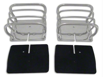 RT Off-Road Euro Style Tail Light Guards - Stainless Steel (87-06 Jeep Wrangler YJ & TJ)