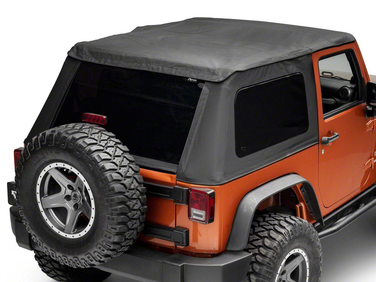 RT Off-Road Fold Back Soft Top - Black Diamond (07-18 Jeep Wrangler JK 2 Door)