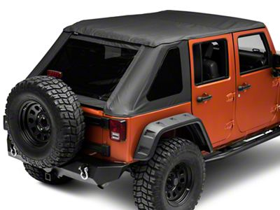 RT Off-Road Fold Back Soft Top - Black Diamond (07-18 Jeep Wrangler JK 4 Door)