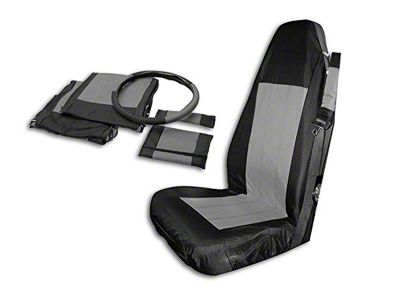 RT Off-Road Front Seat Covers - Black/Gray (03-06 Jeep Wrangler TJ)