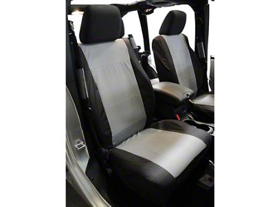 RT Off-Road Front Seat Covers - Black/Gray (07-10 Jeep Wrangler JK)