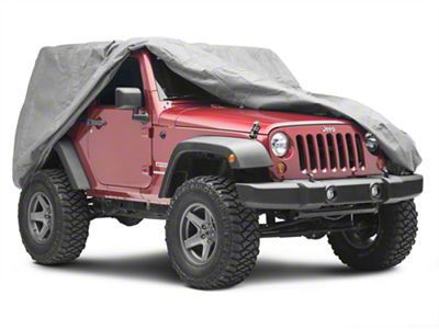 RT Off-Road Full Car Cover - Gray (07-18 Jeep Wrangler JK 2 Door)