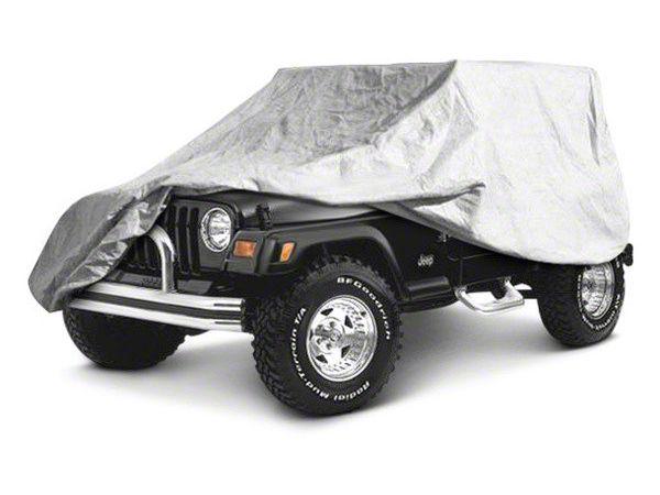 RT Off-Road Full Car Cover - Gray (07-18 Jeep Wrangler JK 4 Door)