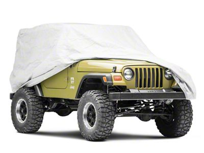 RT Off-Road Full Car Cover - Gray (87-06 Jeep Wrangler YJ & TJ, Excluding Unlimited)