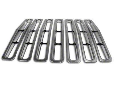 RT Off-Road Grille Inserts - Chrome (87-95 Jeep Wrangler YJ)