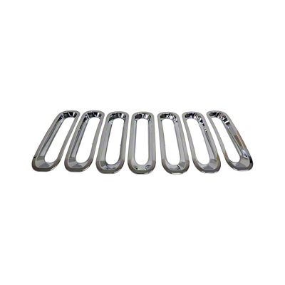 RT Off-Road Grille Inserts - Chrome (07-18 Jeep Wrangler JK)