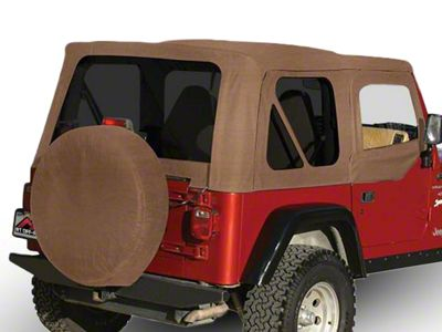 RT Off-Road OEM Replacement Soft Top w/ Tinted Windows & Door Skins - Spice (97-06 Jeep Wrangler TJ w/ Soft Upper Doors, Excluding Unlimited)