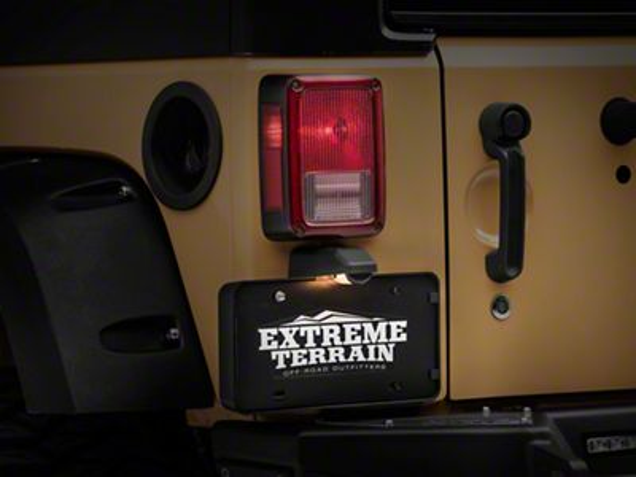Rear License Plate Bracket w/ Lamp (07-18 Jeep Wrangler JK)