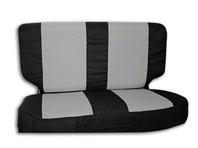 RT Off-Road Rear Seat Cover - Black/Gray (03-06 Jeep Wrangler TJ)