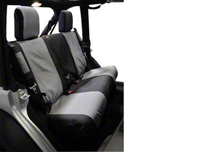 RT Off-Road Rear Seat Cover - Black/Gray (07-10 Jeep Wrangler JK 2 Door)