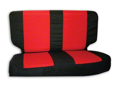RT Off-Road Rear Seat Cover - Black/Red (03-06 Jeep Wrangler TJ)