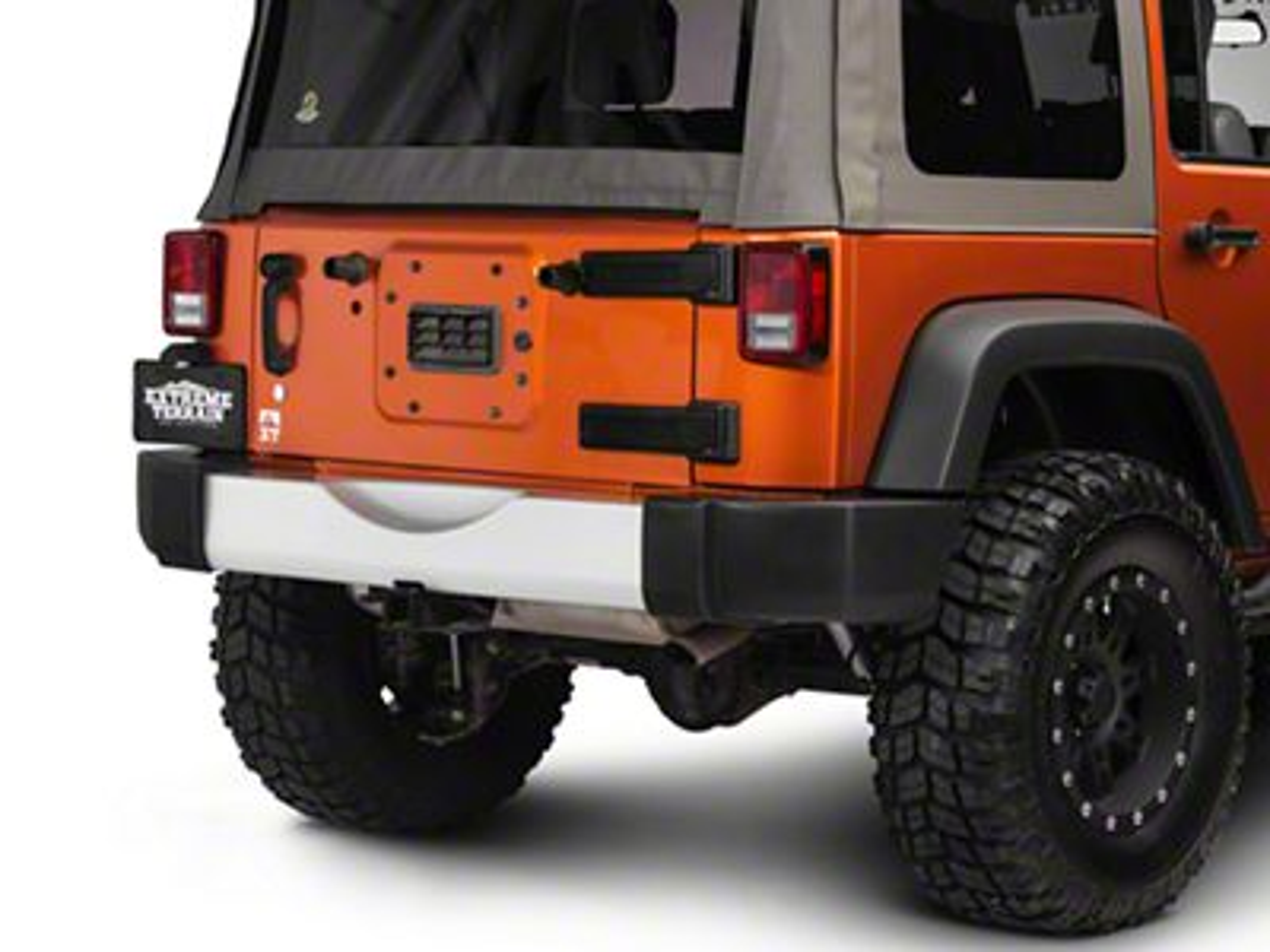 Rugged Ridge Silver Rear Bumper Applique (07-18 Jeep Wrangler JK)