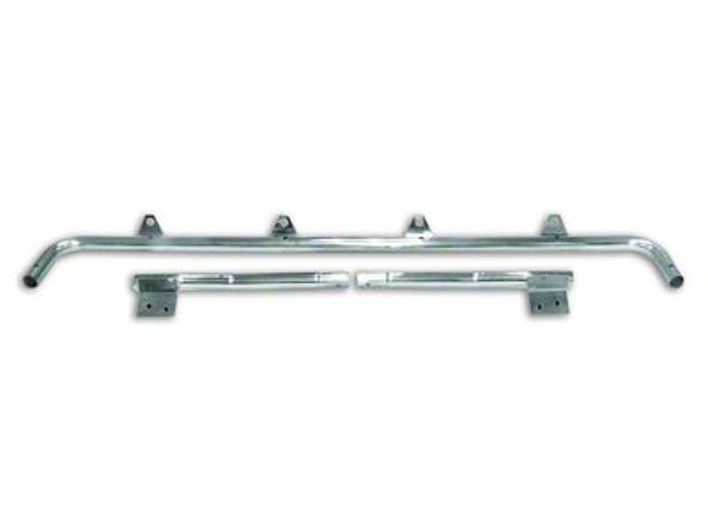 RT Off-Road Stainless Steel Light Bar w/ 4 Light Tabs (97-06 Jeep Wrangler TJ)