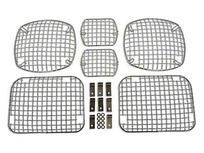 RT Off-Road Stone Guard Set - Chrome (87-95 Jeep Wrangler YJ)