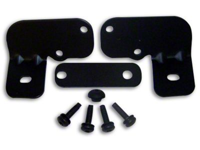 RT Off-Road Windshield Light Mounting Brackets - Black (07-18 Jeep Wrangler JK)