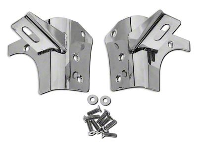 RT Off-Road Windshield Light Mounting Brackets - Stainless Steel (97-06 Jeep Wrangler TJ)