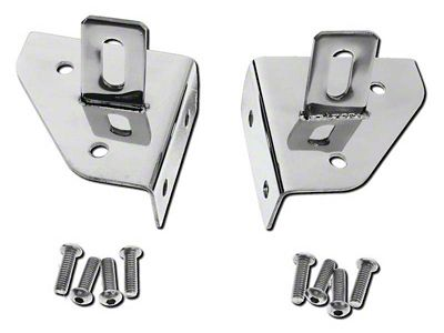 RT Off-Road Windshield Light Mounting Brackets - Stainless Steel (87-95 Jeep Wrangler YJ)