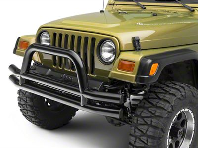 RT Off-Road Front Double Tube Bumper - Black (87-06 Jeep Wrangler YJ & TJ)