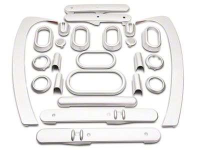 RT Off-Road Interior Trim Kit - Brushed Silver (07-10 Jeep Wrangler JK 4 Door w/ Power Windows & Automatic Transmission)