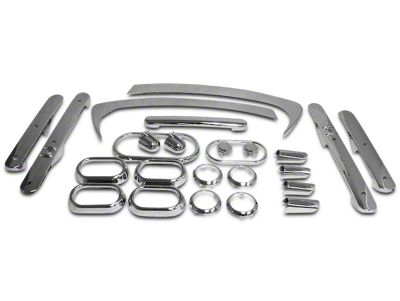 RT Off-Road Interior Trim Kit - Chrome (07-10 Jeep Wrangler JK 4 Door w/ Power Windows & Automatic Transmission)