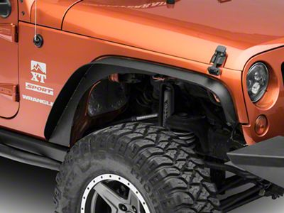 Steel Fender Flares - Textured Black (07-18 Jeep Wrangler JK)