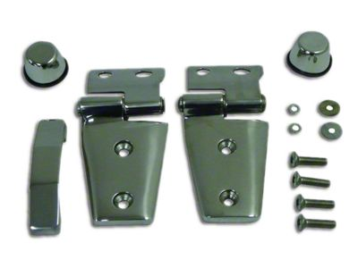 RT Off-Road Stainless Steel Hood Hinge Kit (07-18 Jeep Wrangler JK)