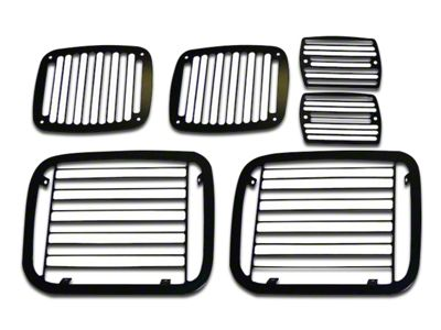 RT Off-Road Stone Guard Set - Billet Black (87-95 Jeep Wrangler YJ)