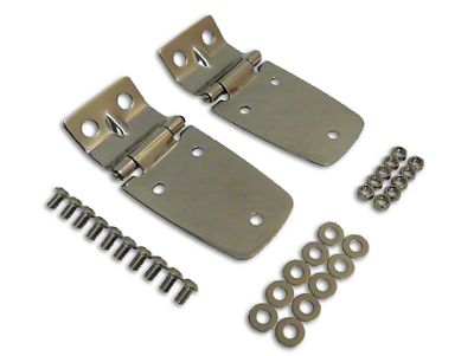 RT Off-Road Stainless Steel Hood Hinge Set (97-06 Jeep Wrangler TJ)